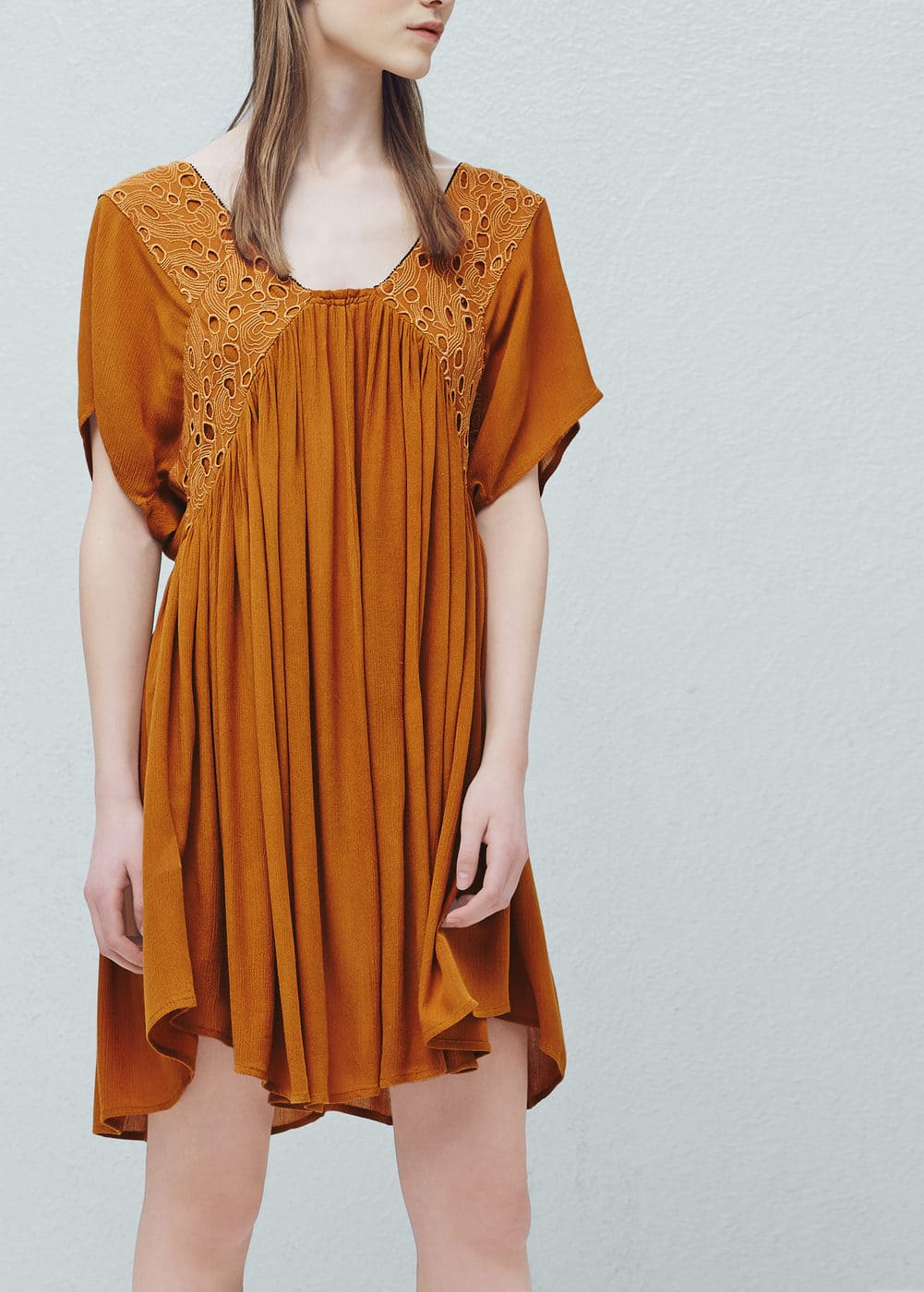 Bead embroidery dress | MANGO