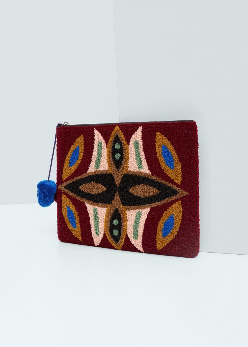 Textured envelope bag | MANGO