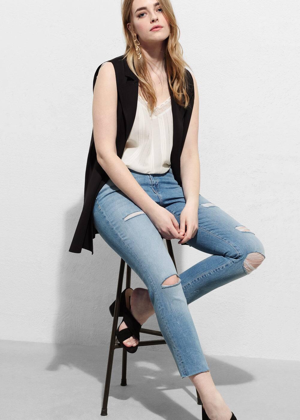 Slim-fit soraya jeans | VIOLETA BY MANGO