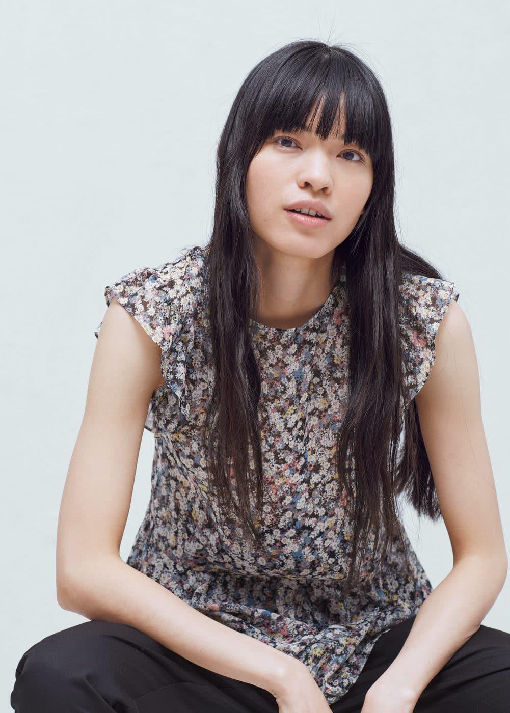 Ruffled sleeve blouse | MANGO