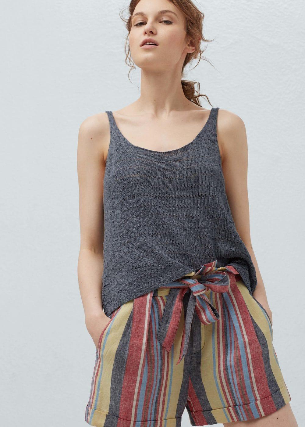 Openwork knit top | MANGO