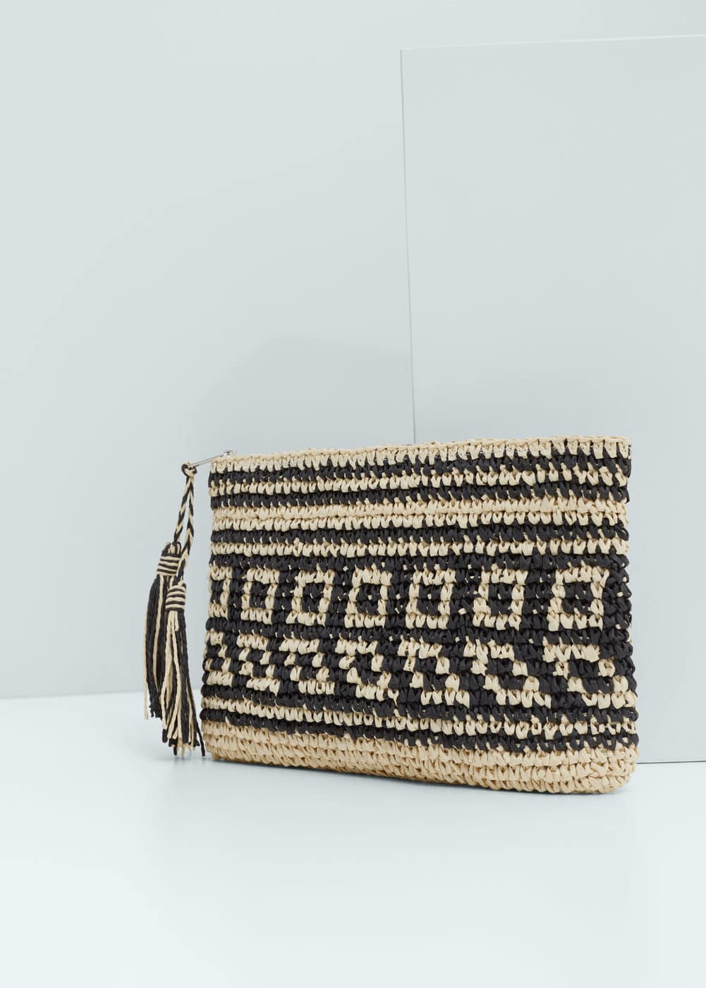 Striped straw bag | MANGO