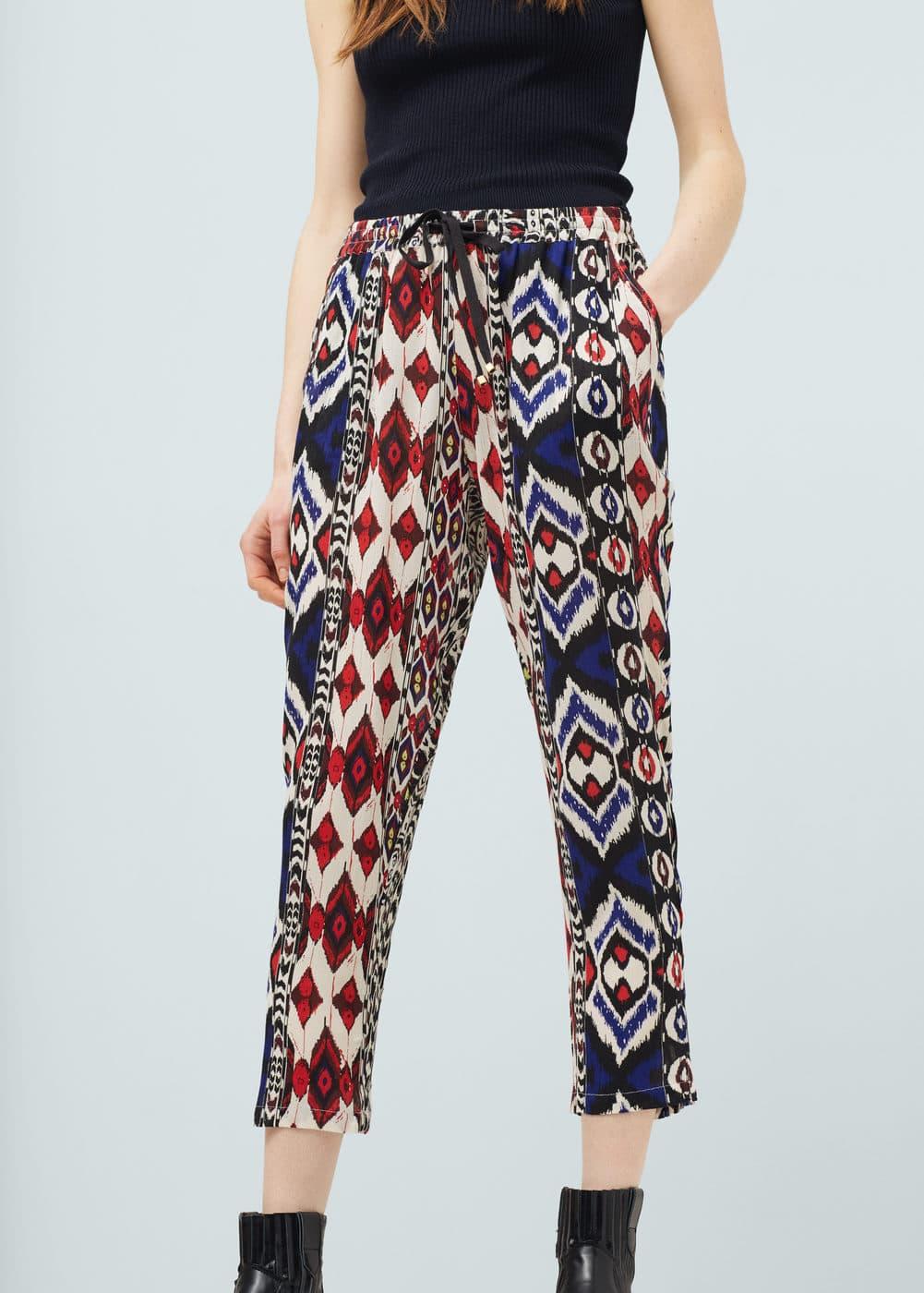 Printed baggy trousers | MANGO