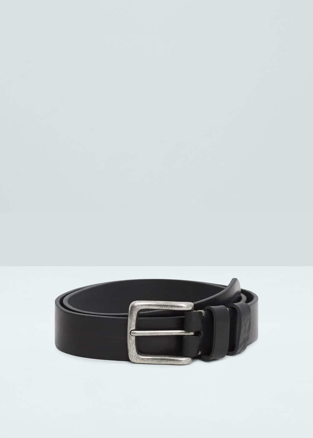 Leather belt | MANGO