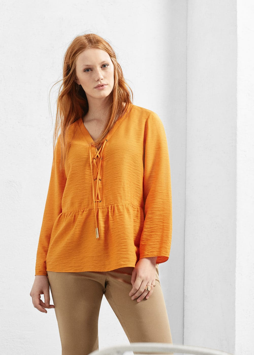 Braided cord blouse | VIOLETA BY MANGO