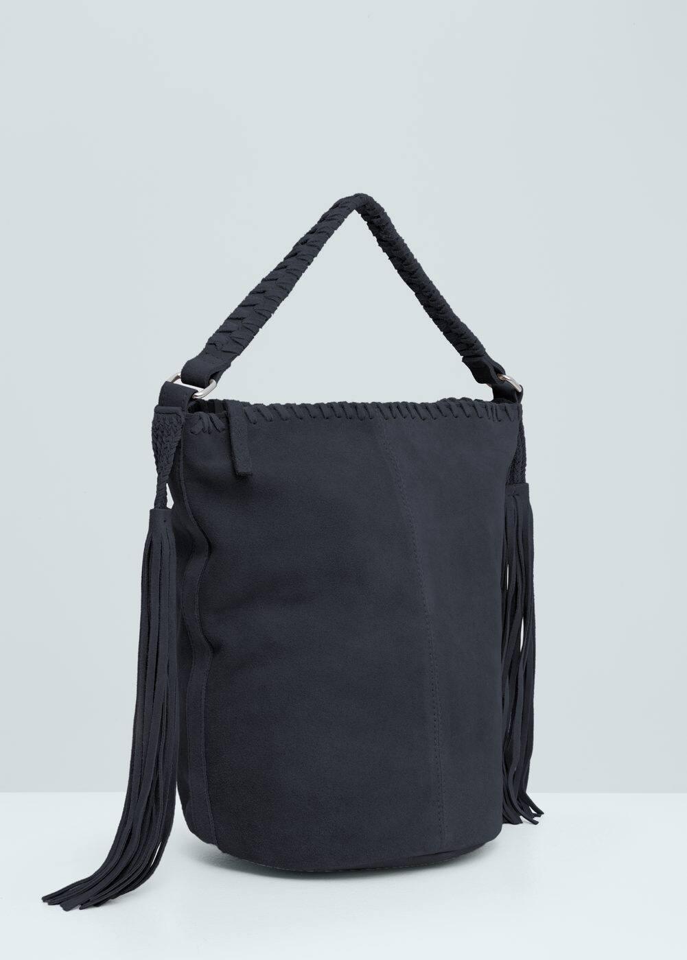 Leather fringes bag | MANGO
