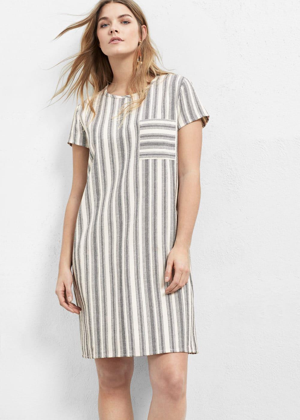 Striped cotton dress | VIOLETA BY MANGO