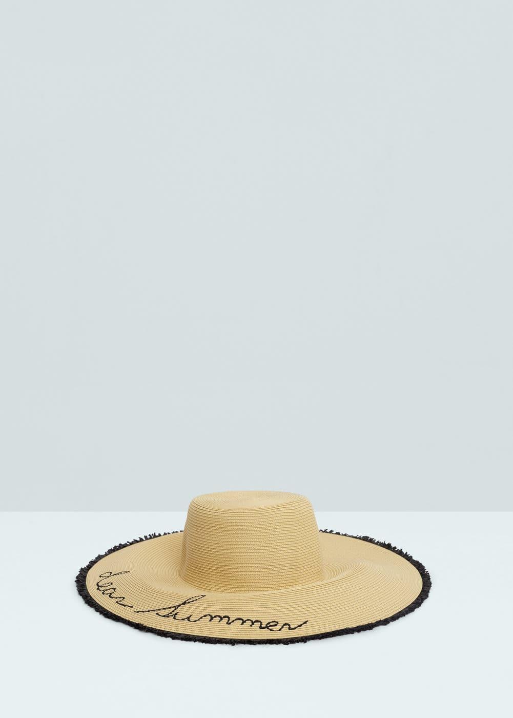 Straw pamela hat | MANGO