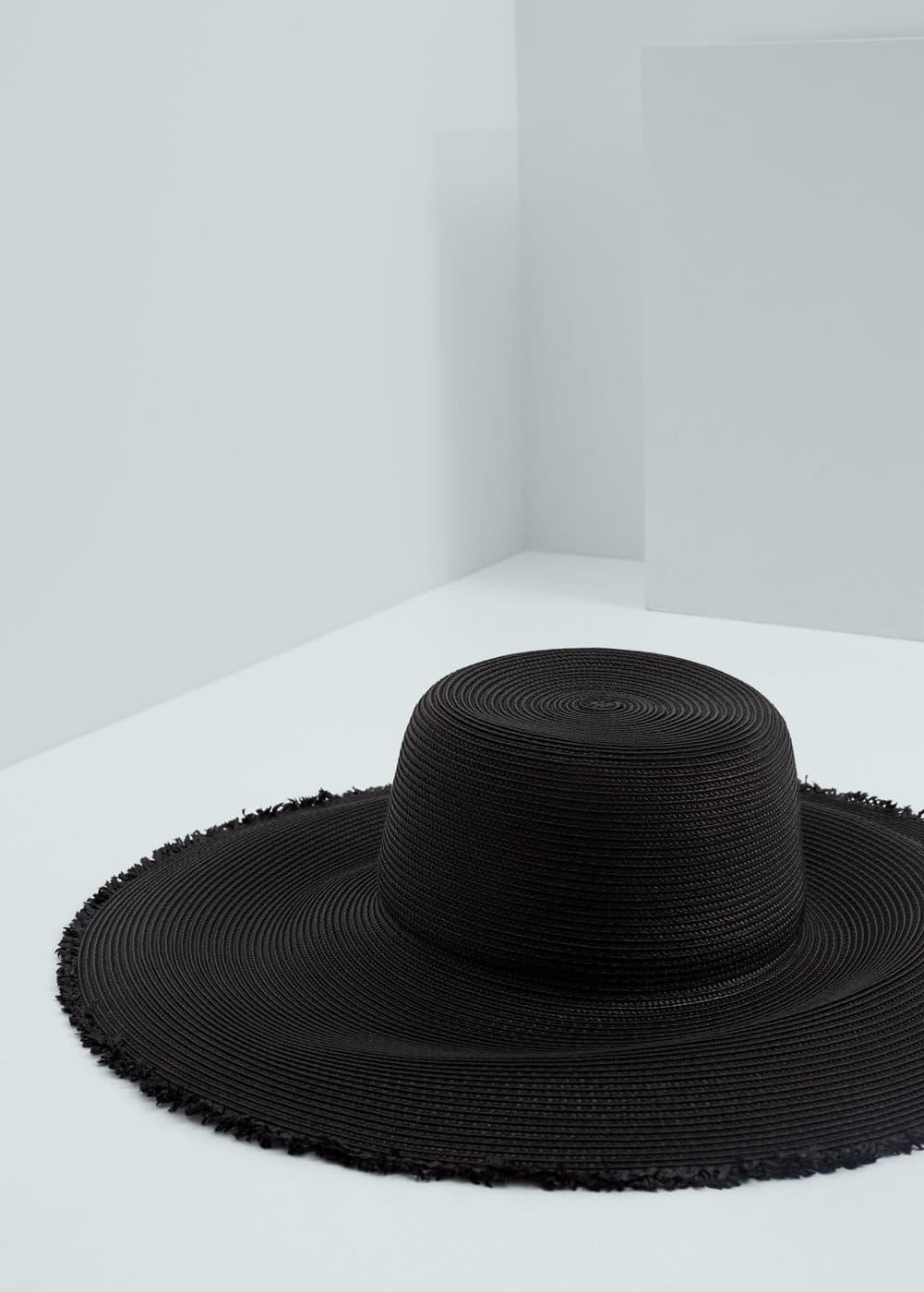 Słomkowy kapelusz z szerokim rondem | MANGO