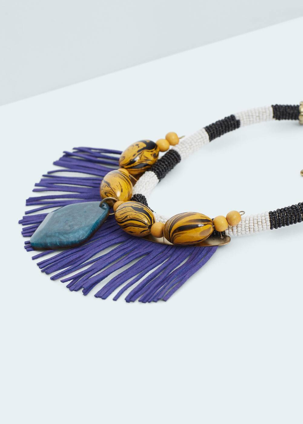 Contrasting pendant necklace | MANGO