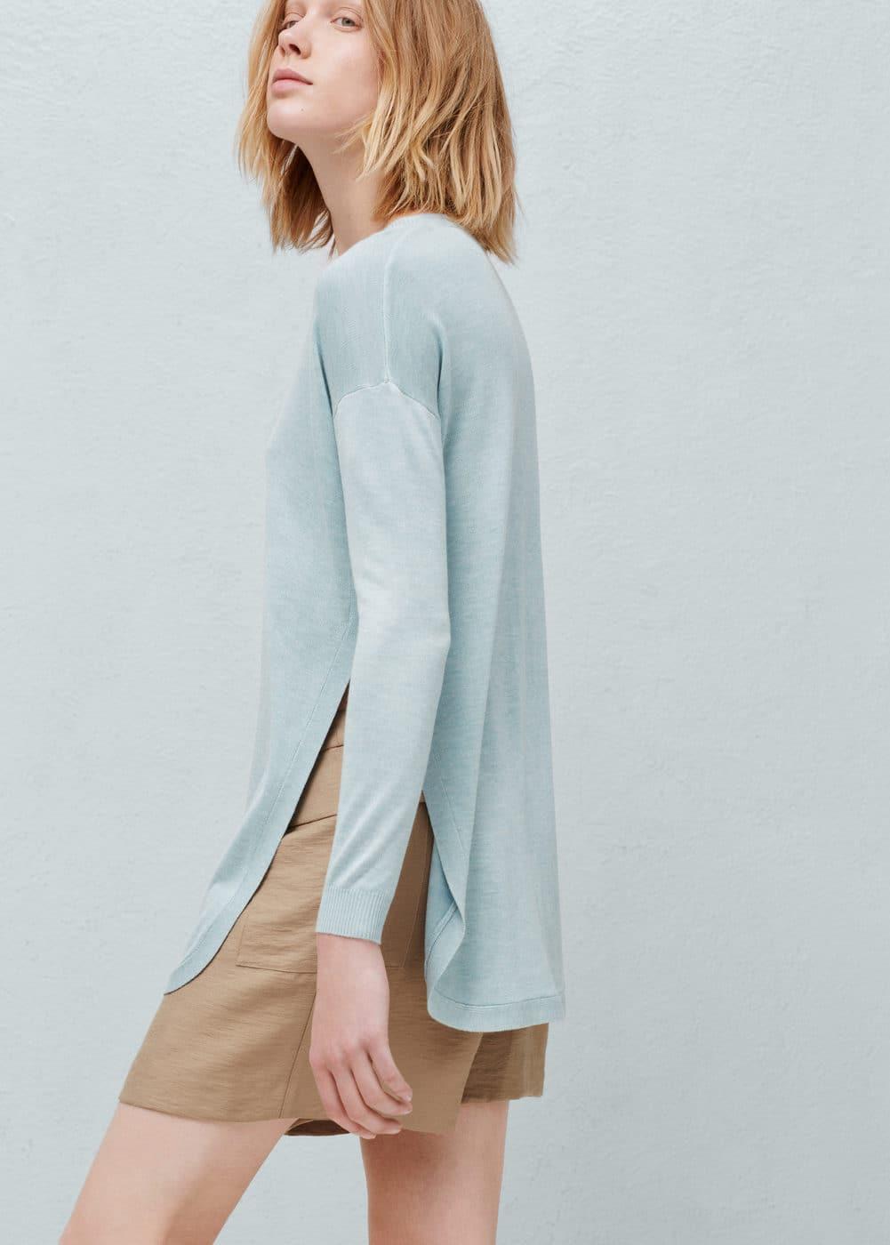 Fine-knit oversize sweater | MANGO