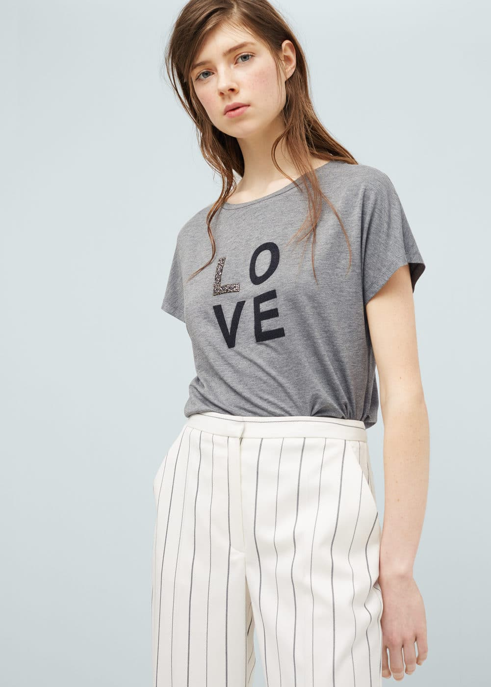 Printed t-shirt | MANGO