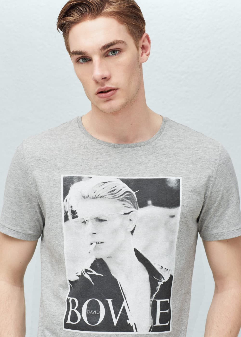 Bowie cotton t-shirt | MANGO MAN