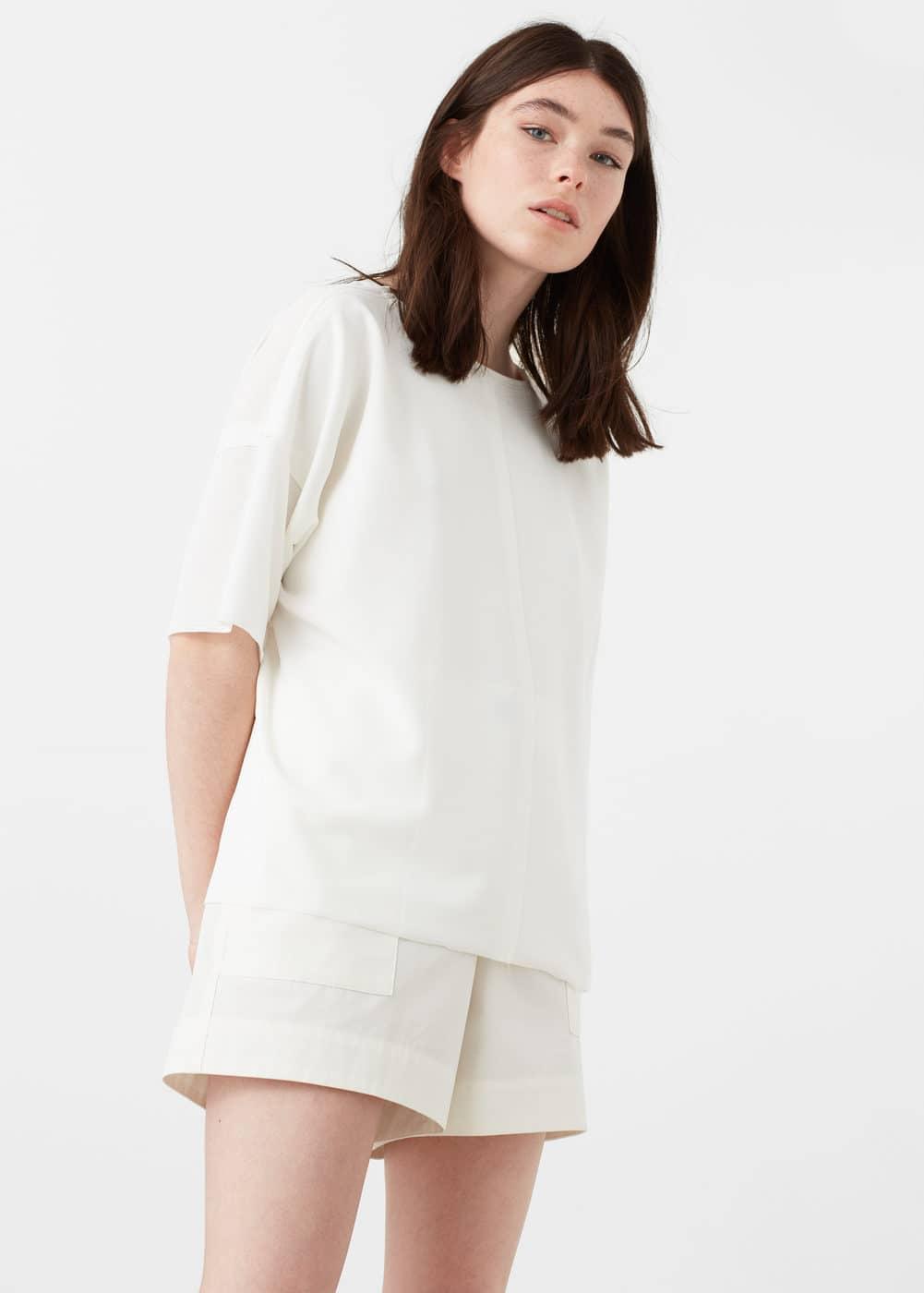 Side slit t-shirt | MANGO