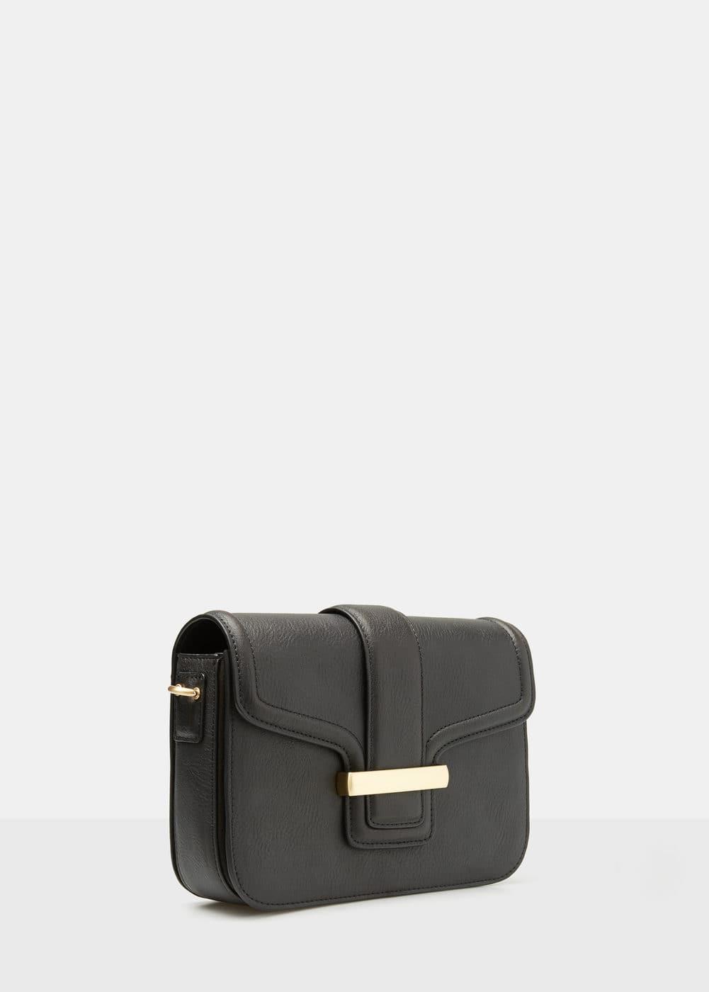 Pebbled cross-body bag | MANGO