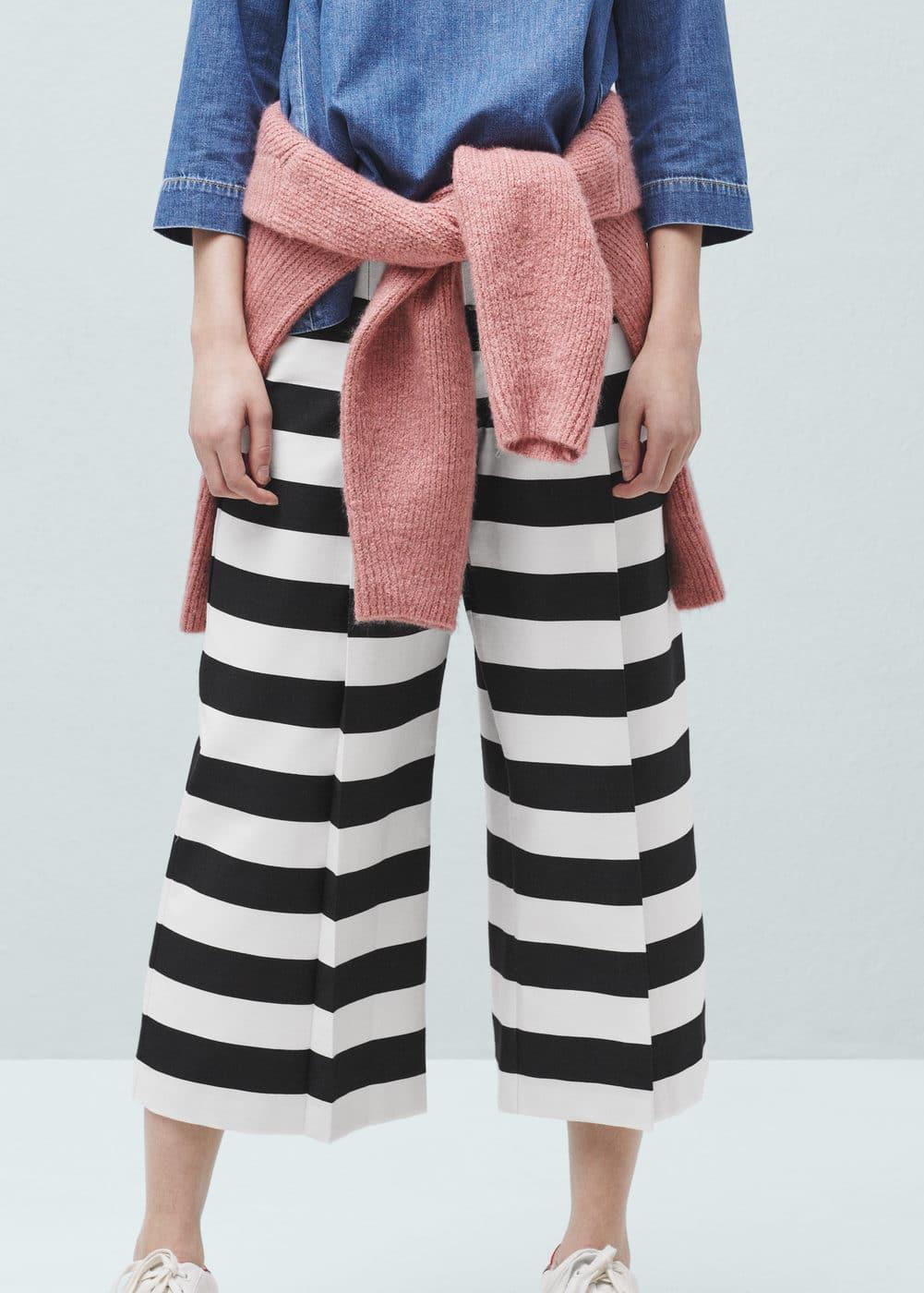 Cropped palazzo trousers | MANGO