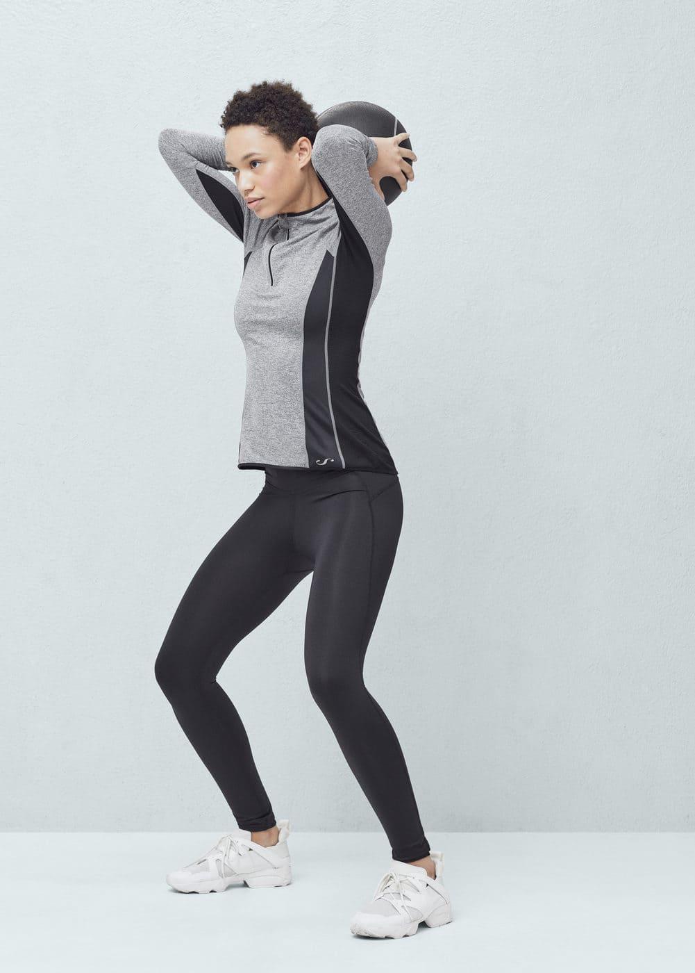 Fitness & running - технический лонгслив | MANGO МАНГО