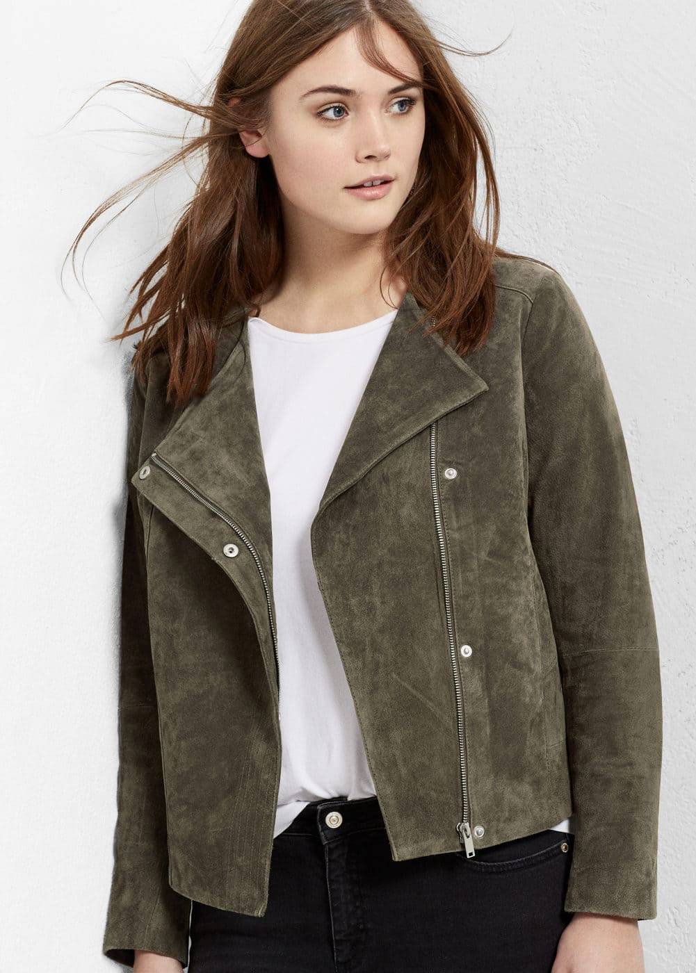 Suede jacket | VIOLETA BY MANGO
