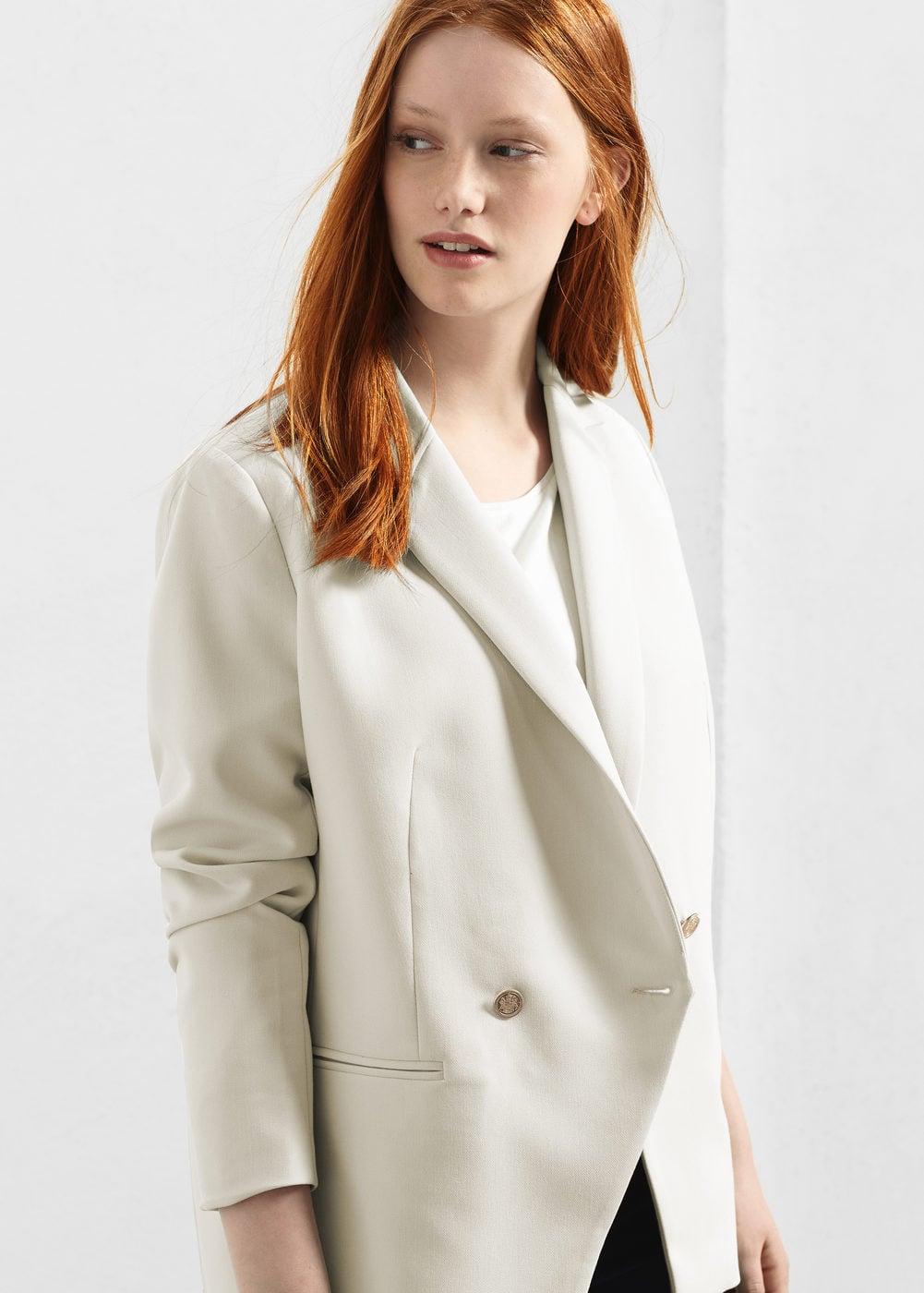 Contrast buttons blazer | VIOLETA BY MANGO