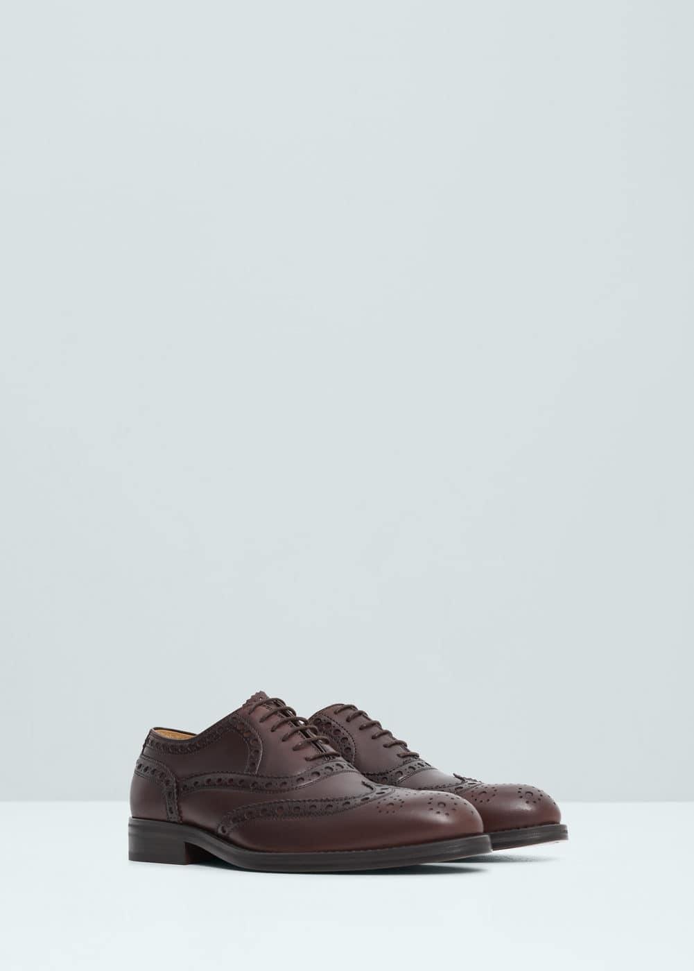 Skórzane buty oxford   MANGO MAN