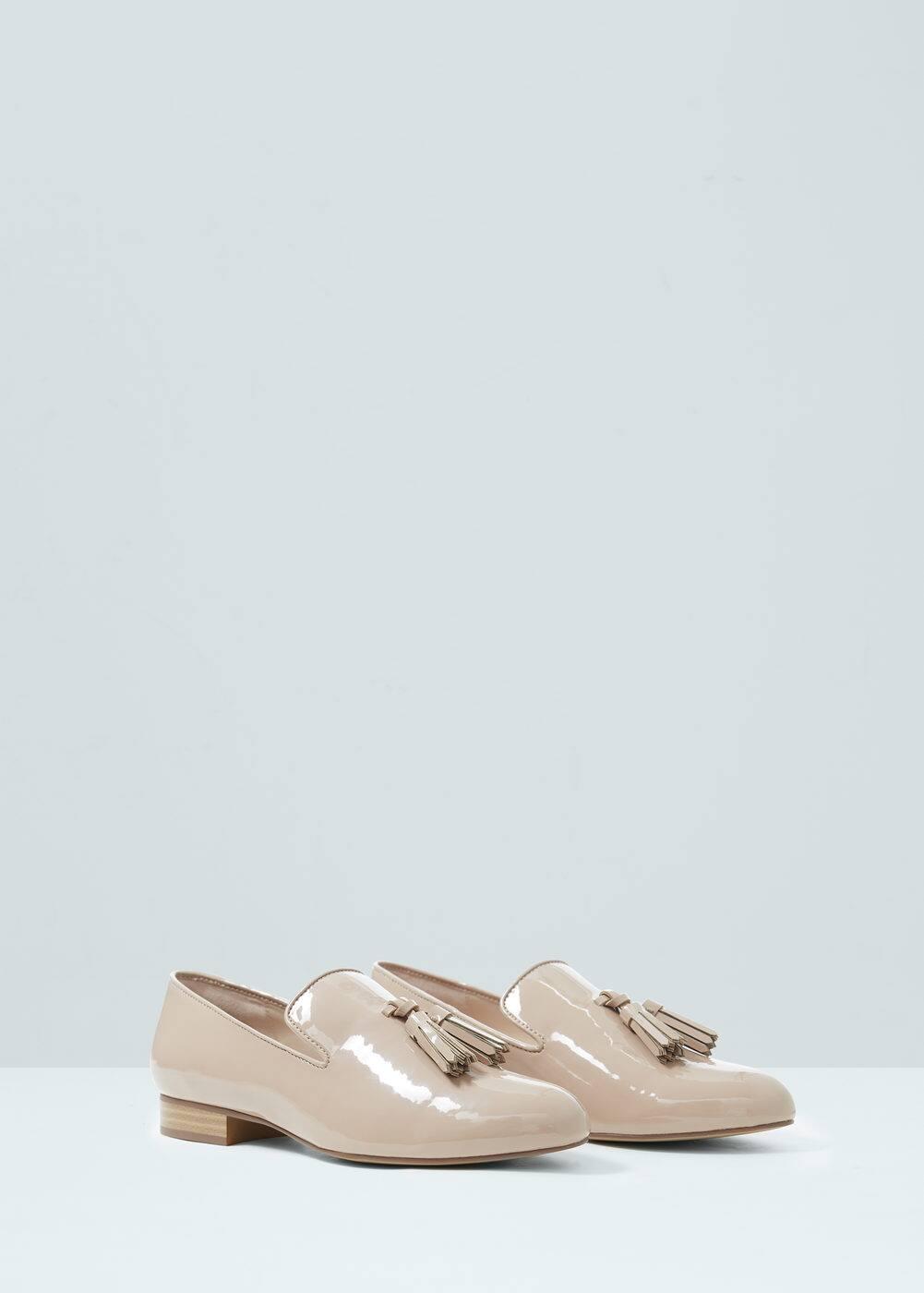 Tassel patent shoes | MANGO