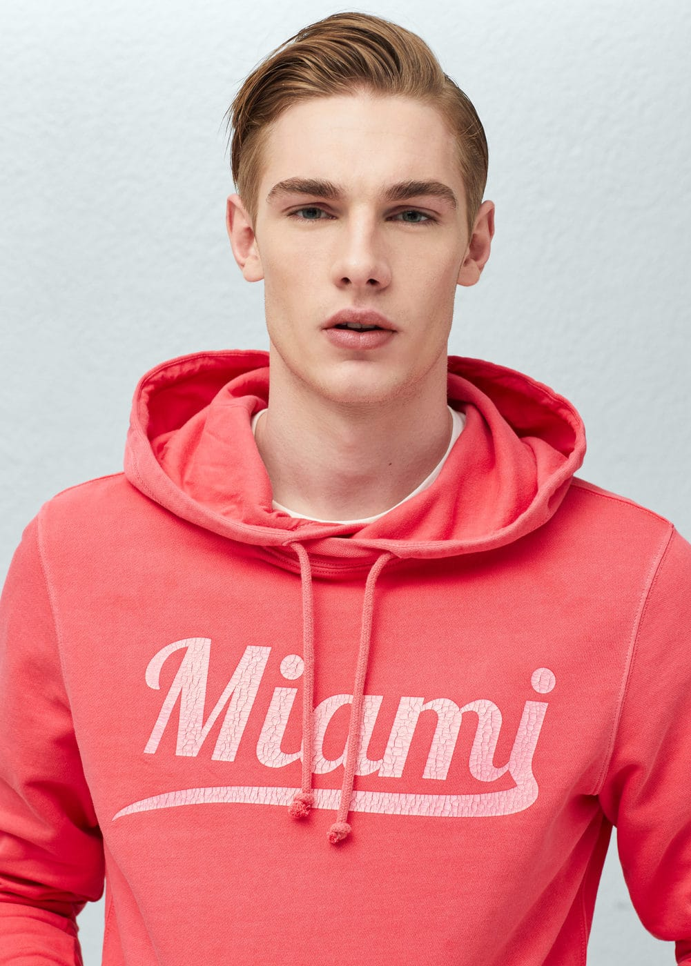 Miami cotton sweatshirt | MANGO MAN