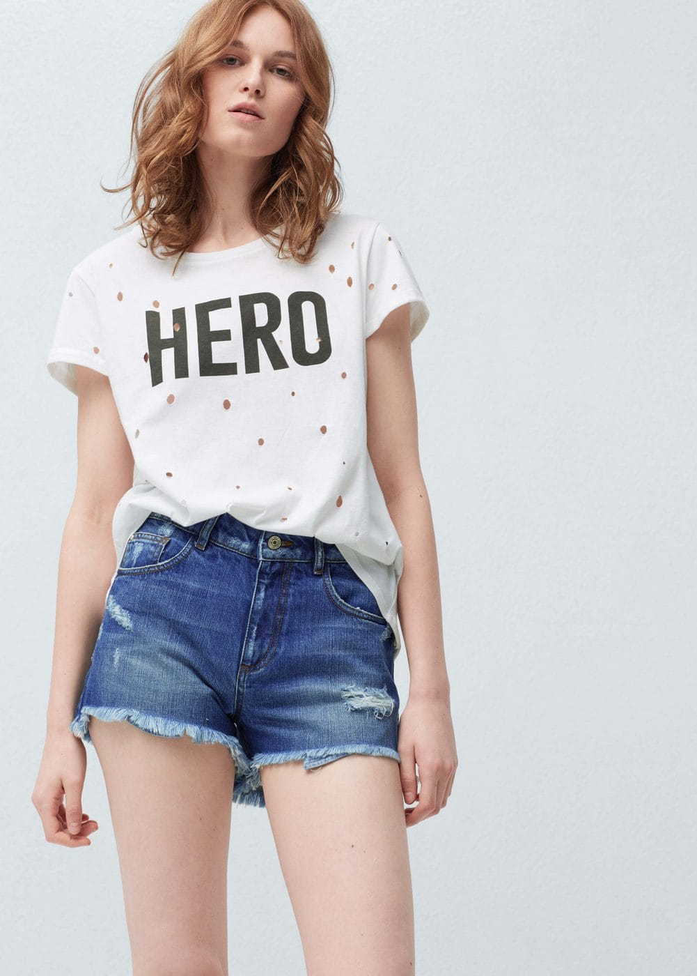 Medium denim shorts | MANGO