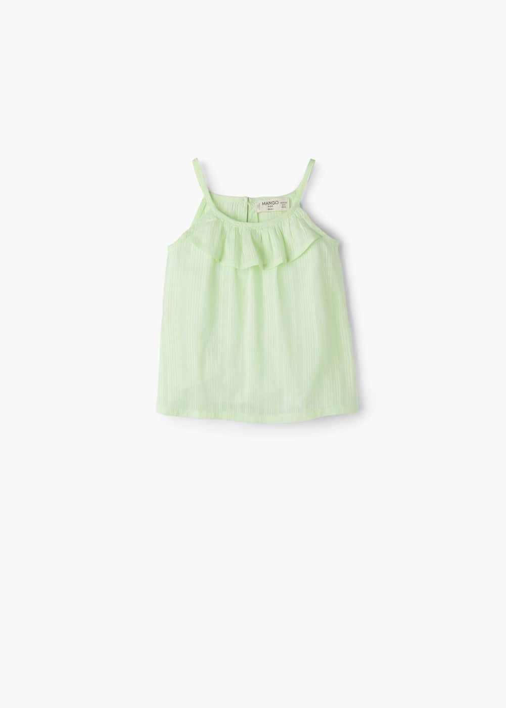 Ruffle cotton blouse | MANGO KIDS