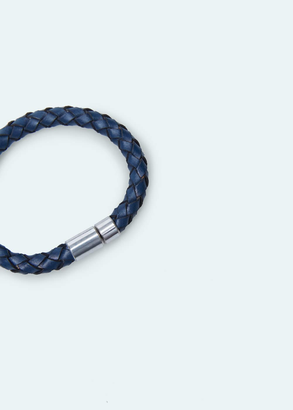 Braided leather bracelet | MANGO