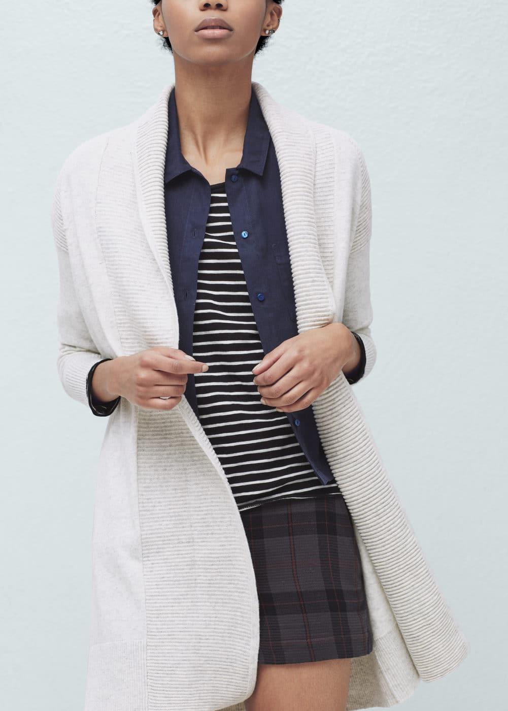 Textured cotton cardigan | MANGO