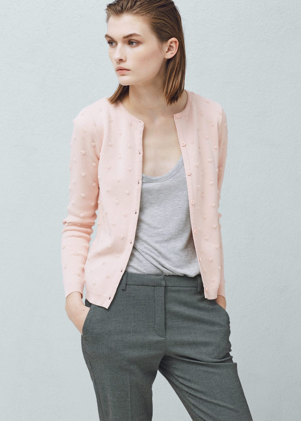 Cotton appliqués cardigan | MANGO