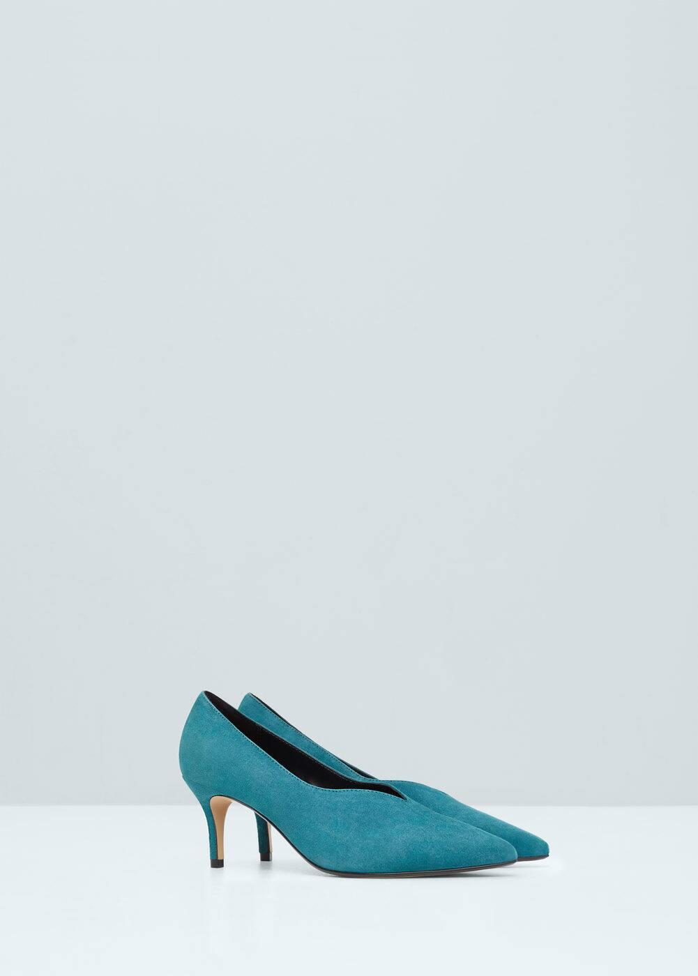 Skórzane buty na obcasie | MANGO
