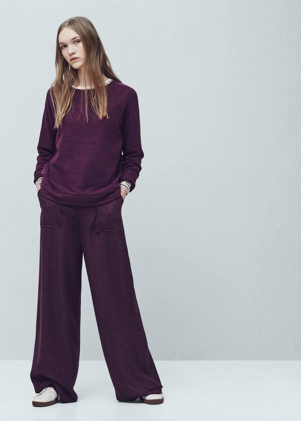 Textured sweatshirt | MANGO