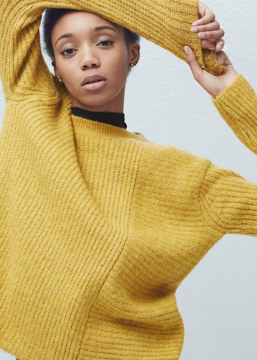 Side slits sweater   MANGO
