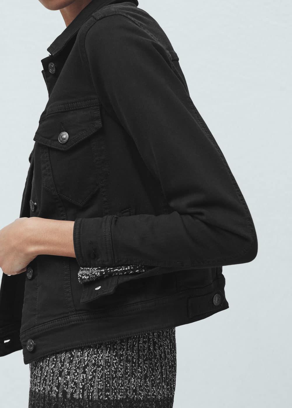 Black denim jacket | MANGO
