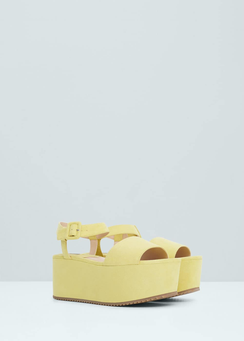 Platfrom ankle-cuff sandals | MANGO
