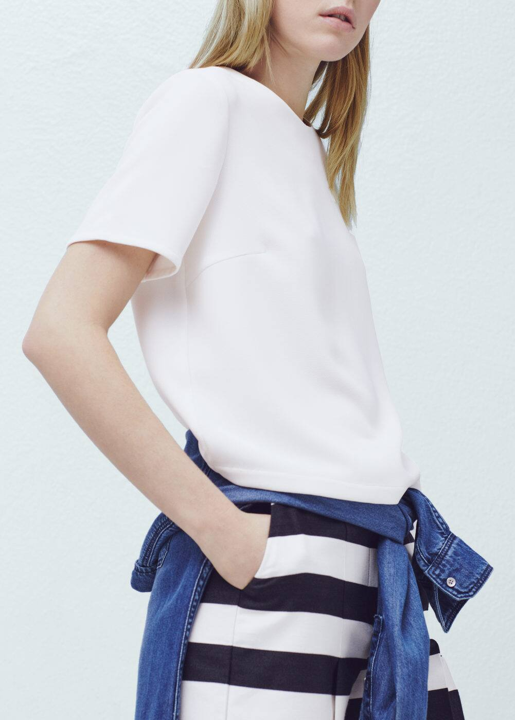 Flowy textured blouse | MANGO