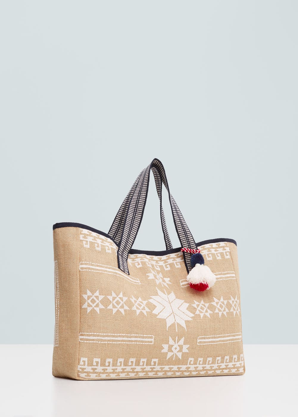 Jute cotton-blend bag | MANGO