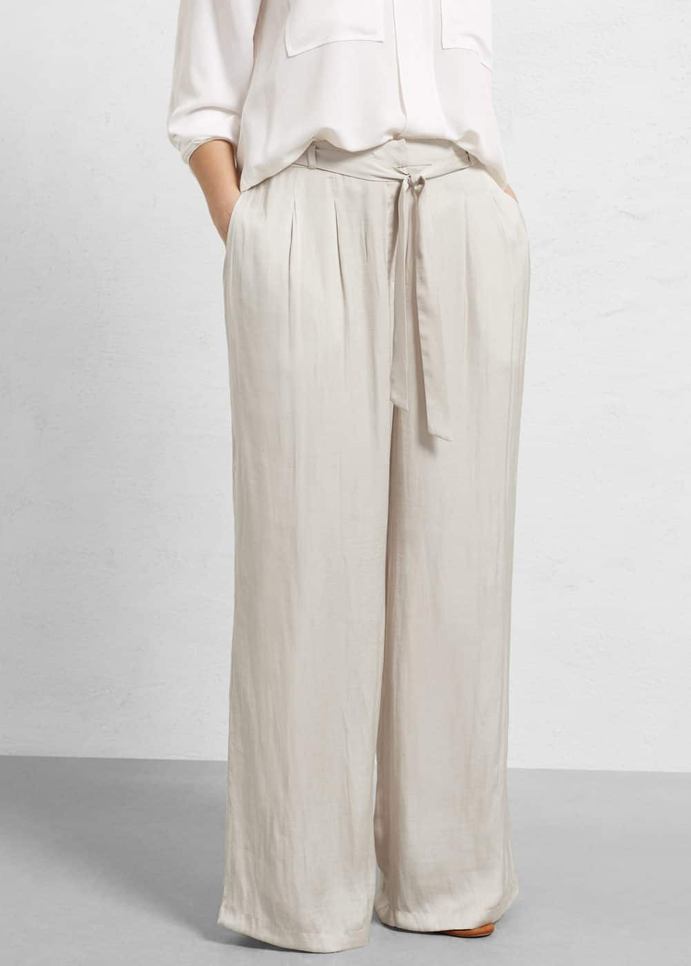 Flowy palazzo trousers | VIOLETA BY MANGO