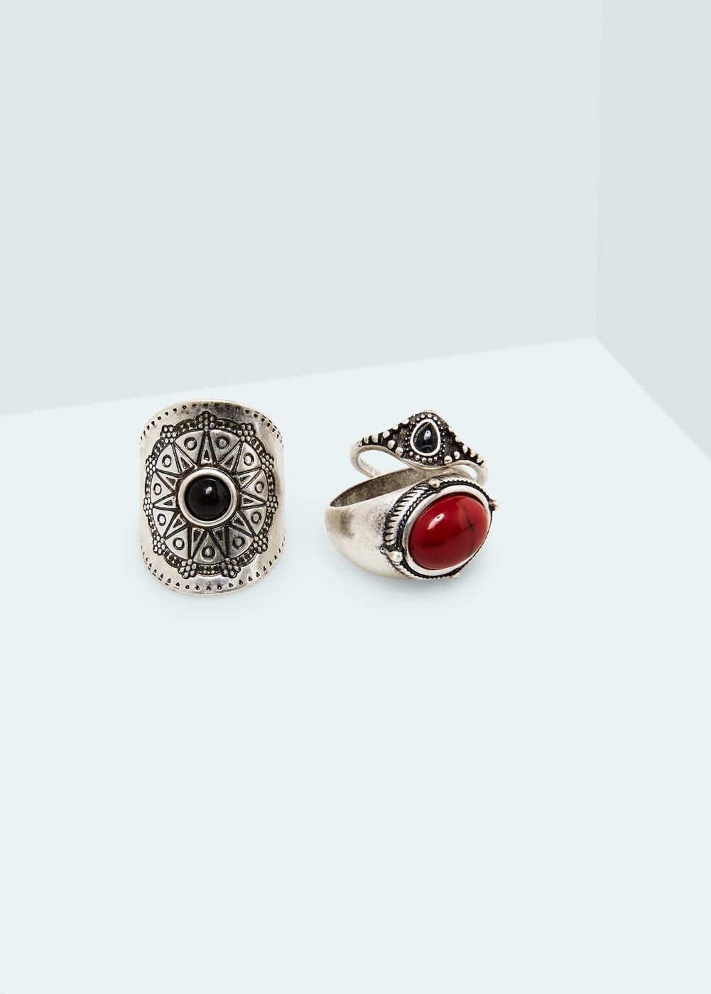 Zestaw pierścionków boho | MANGO