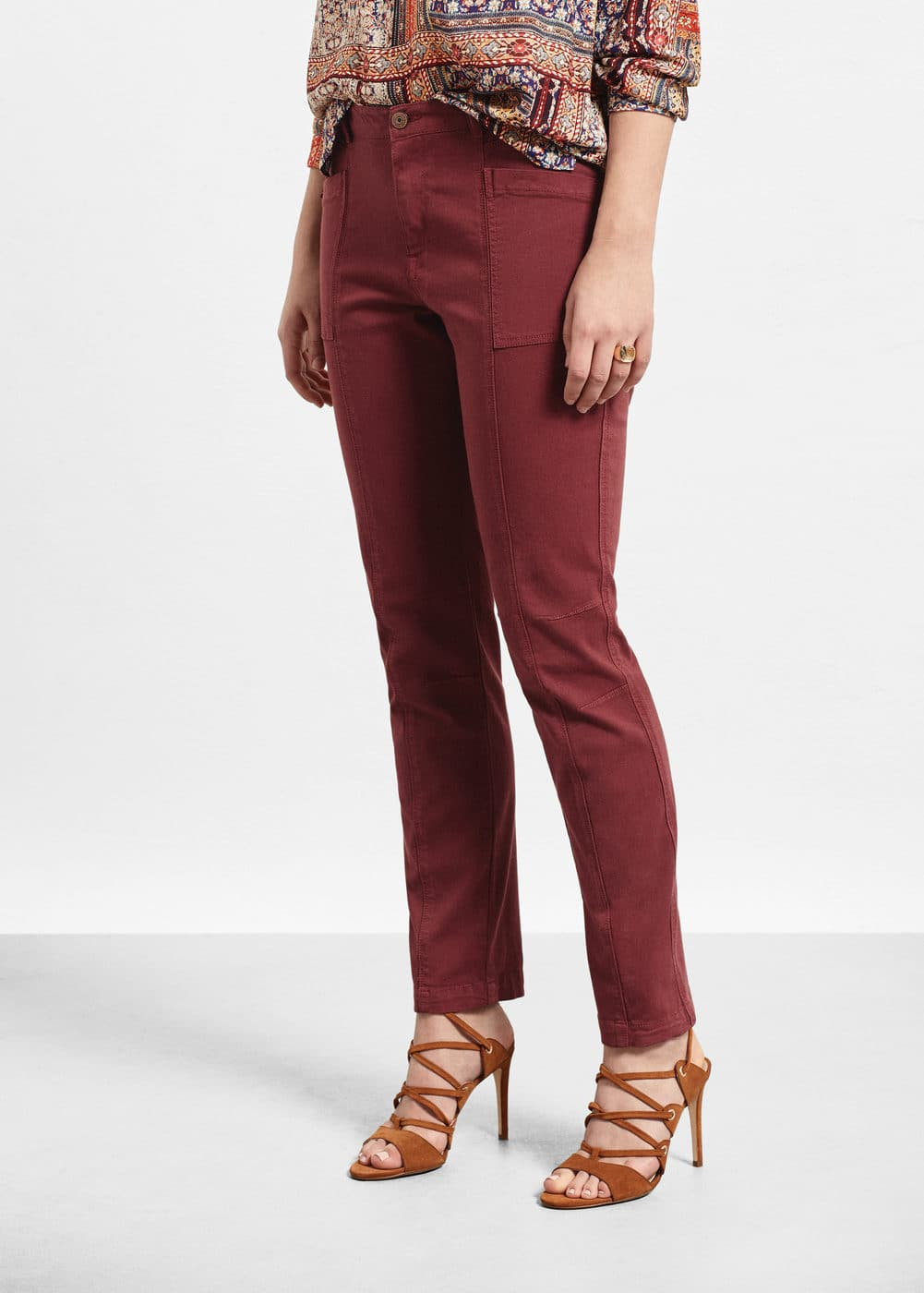 Straight cotton trousers | VIOLETA BY MANGO