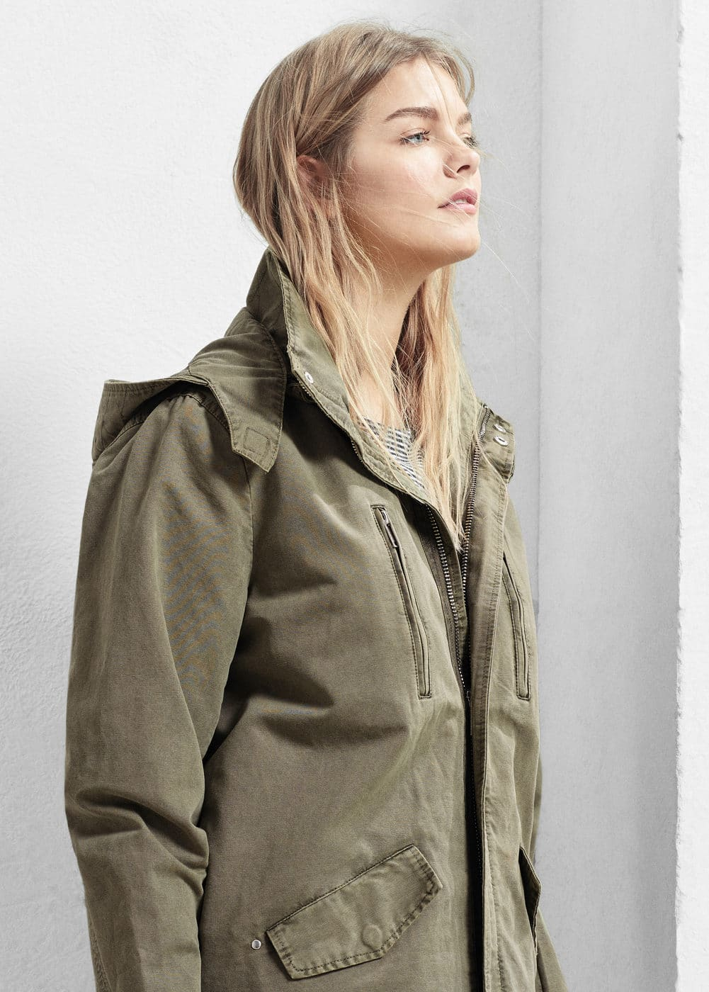 Hooded cotton parka | MANGO