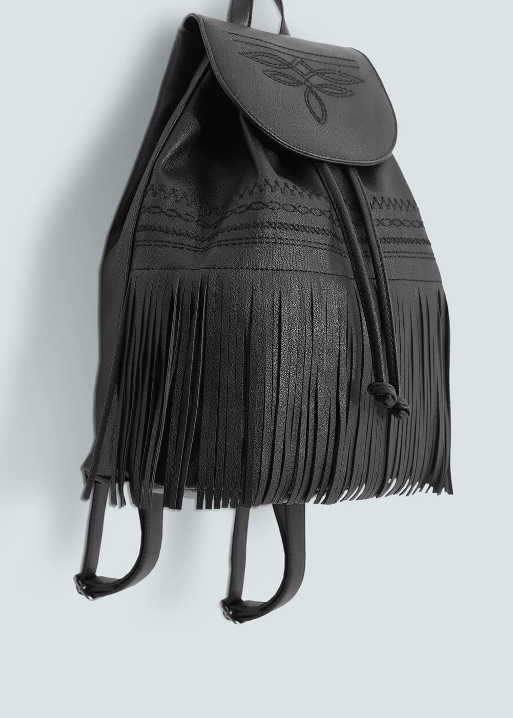 Fringed backpack | MANGO