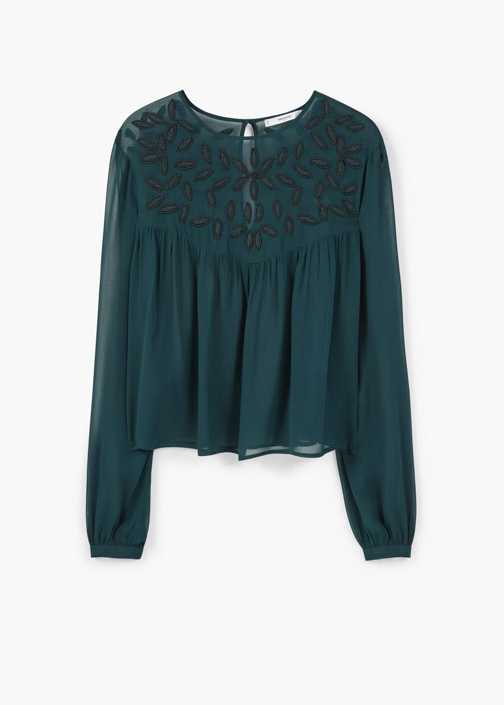 Beaded chiffon blouse | MANGO