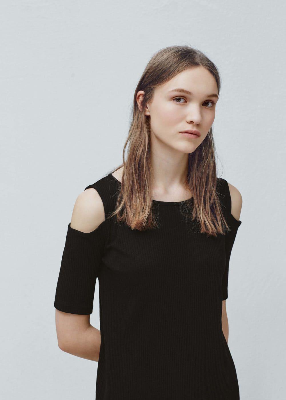 Ribbed jersey dress | MANGO