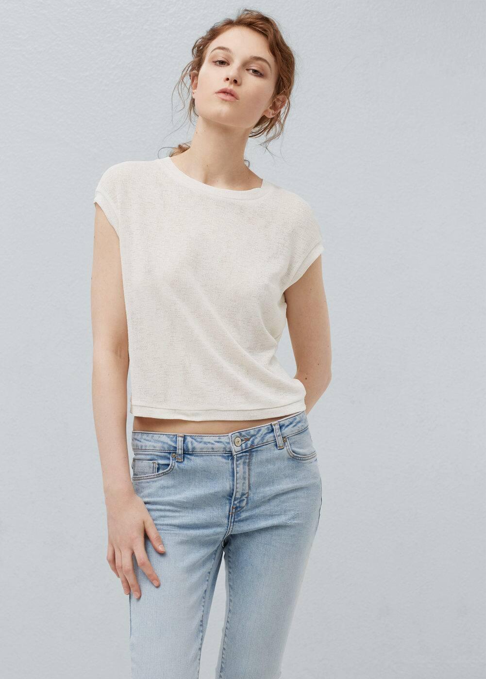 Crop t-shirt | MANGO