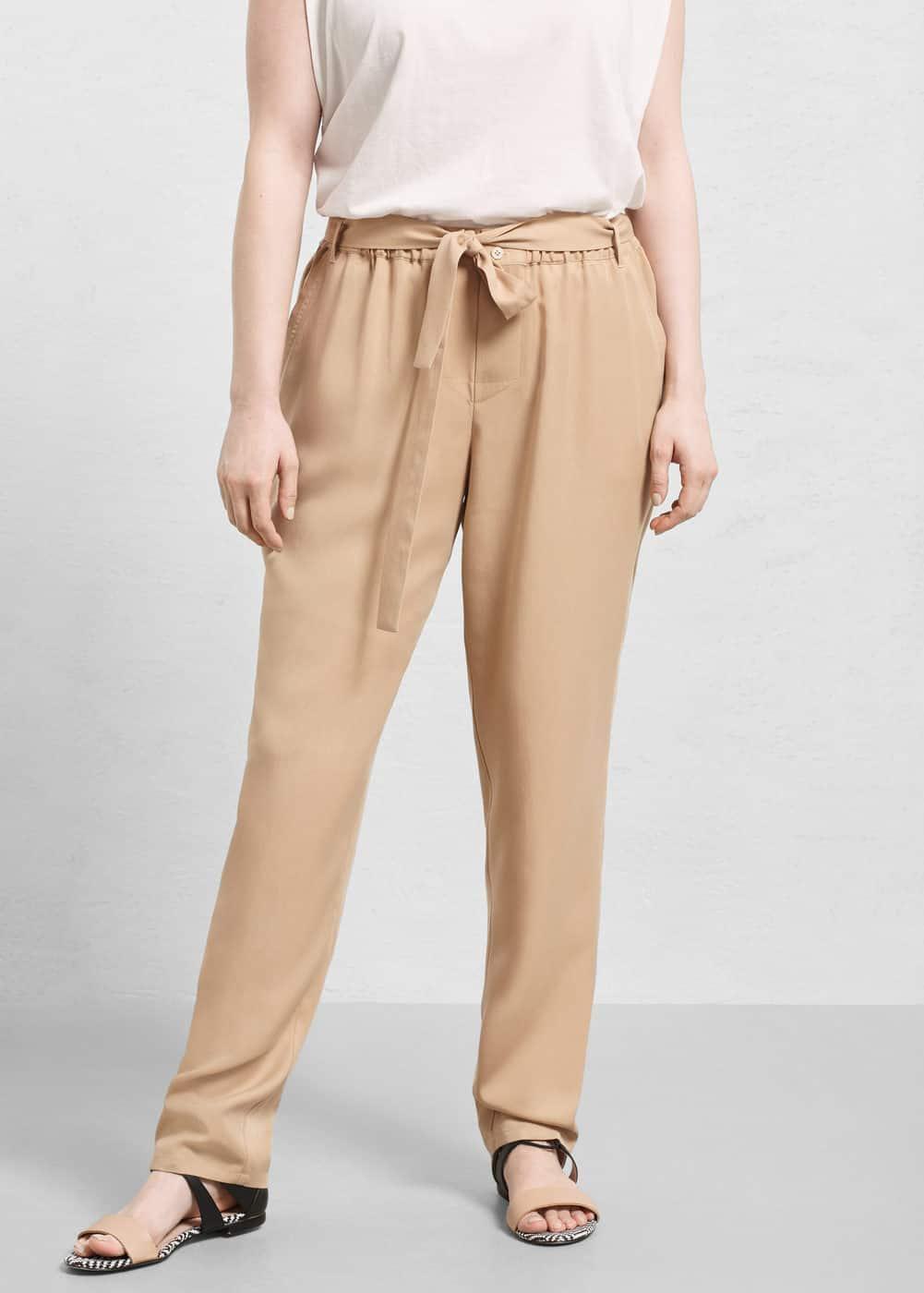 Baggy tencel® trousers   MANGO