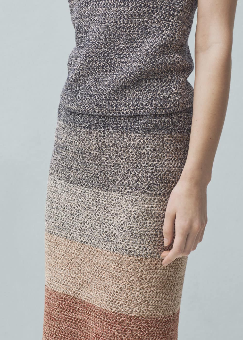 Knitted cotton skirt | MANGO
