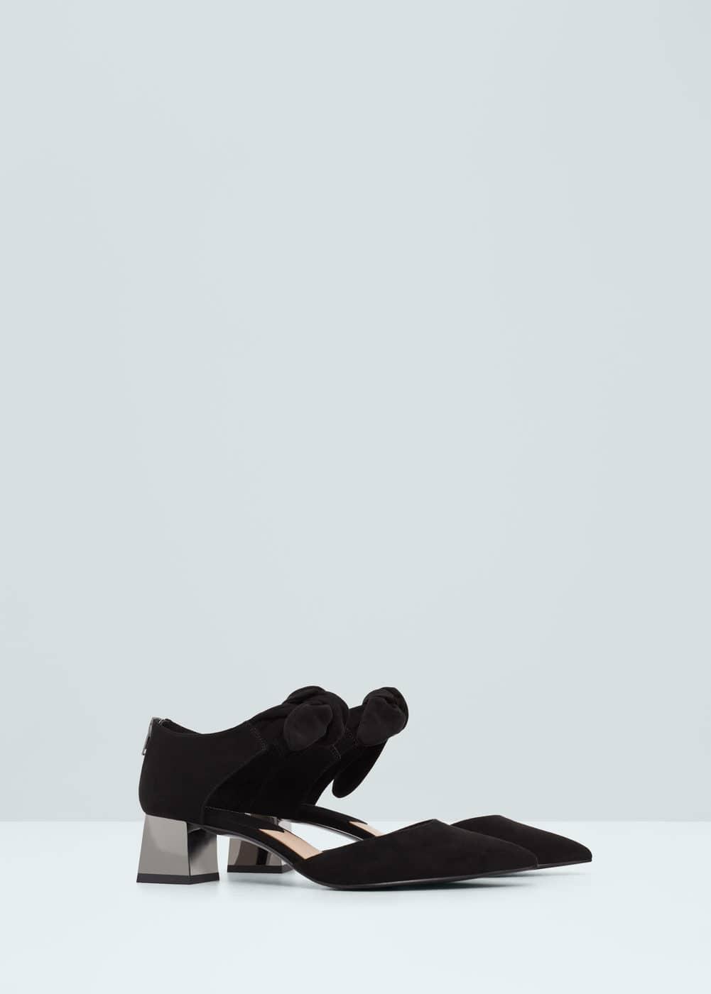 Zapato tacón metalizado | MANGO