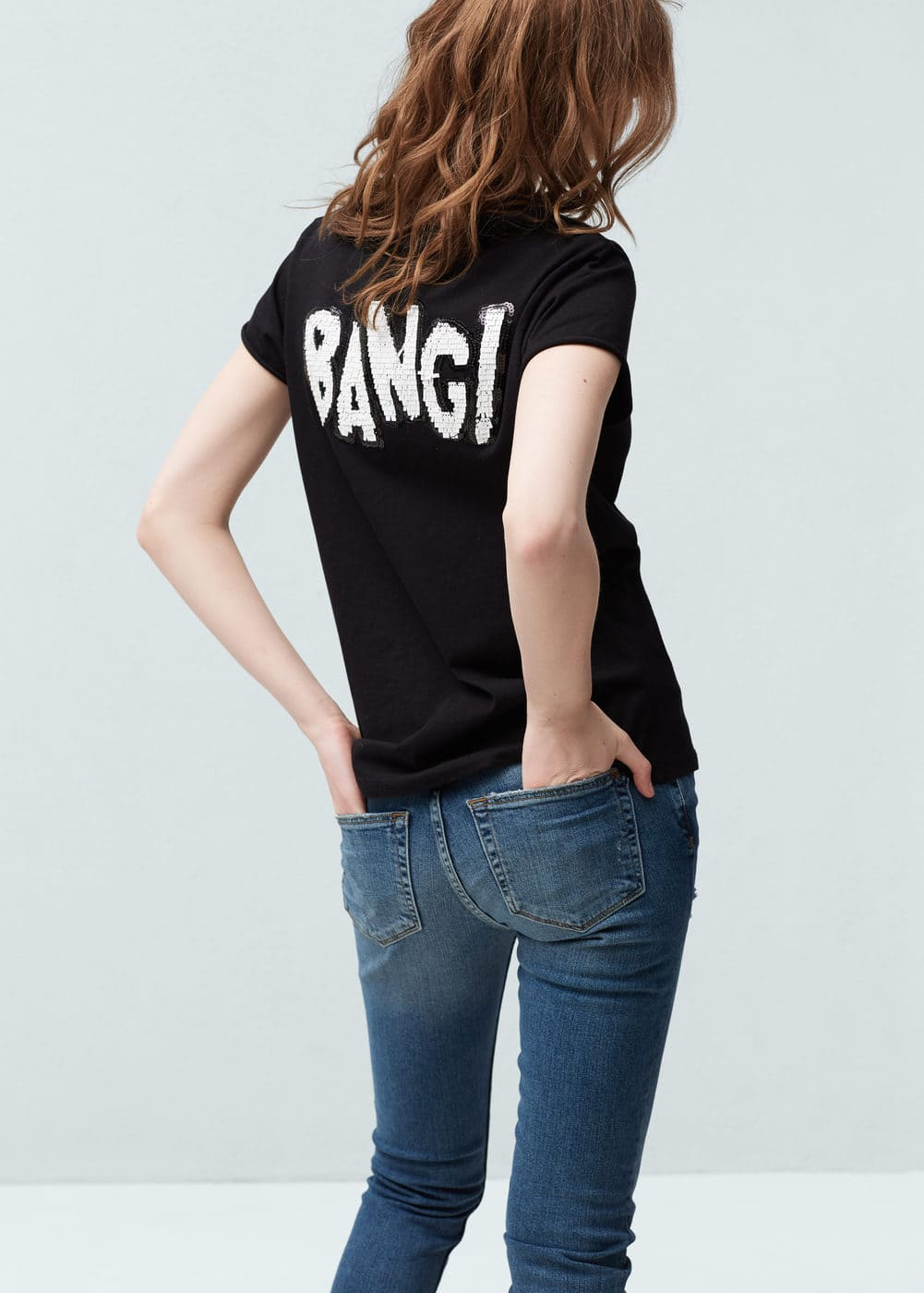 Back message t-shirt | MANGO